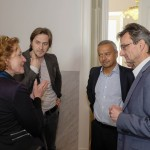 Barbara Eppensteiner (Okto), Senad Hergic (Okto), Andy Kaltenbrunner (imim), Hermann Hellwagner (Uni Klagenfurt)
