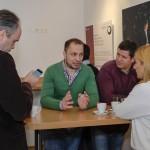 "Markus Kichl (Moser Holding), Georgi Makaradzhiyski (Telenor Bulgaria), Naser Selmani (""Vest""/Skopje), Karin Strobl"