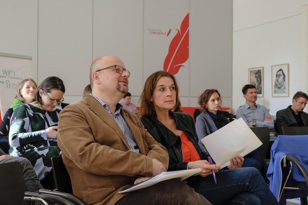 Martin Zimper (Zürcher Hochschule der Künste), Michaela Seemann (ORF)