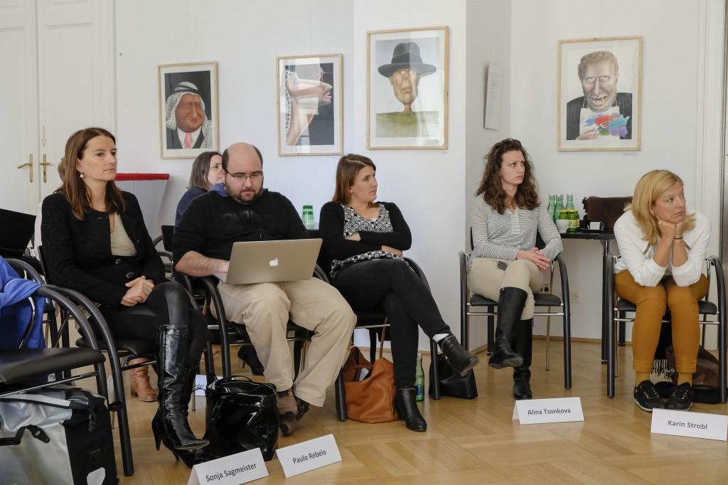 imim students Sonja Sagmeister, Paulo Rebêlo, Manuela Kosch, Alina Tsonkova, Karin Strobl