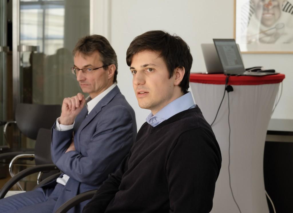 Hermann Hellwagner (Uni Klagenfurt), Stefan Lederer (Bitmovin)