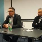 "Jan-Eric Peters, editor-in-chief of ""Die Welt"" (left), IMIM program director Andy Kaltenbrunner"