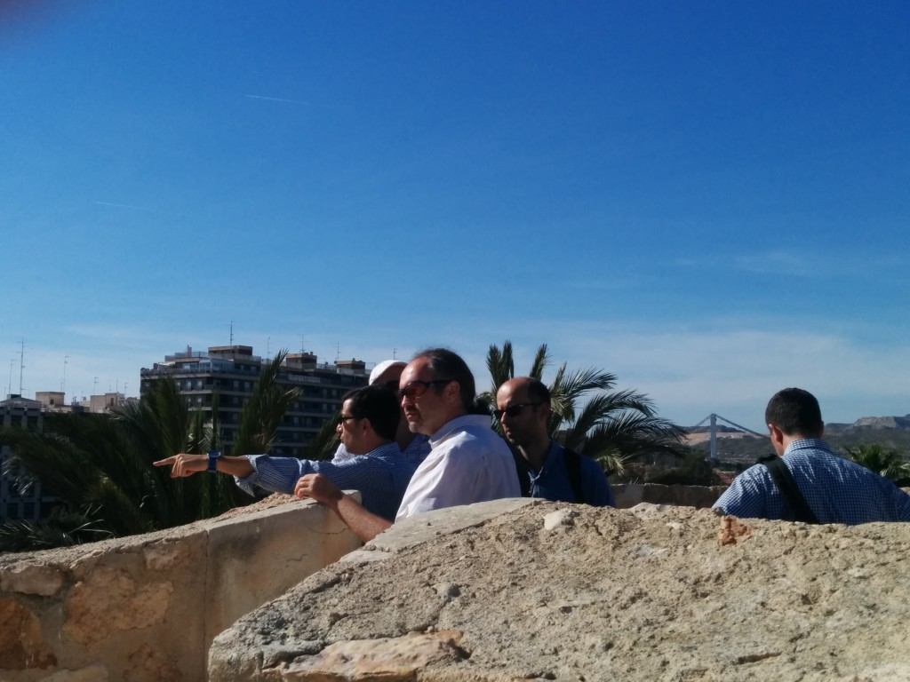 Enjoying the view from Palacio de Altamira.