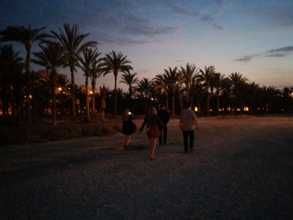 Leaving Elche, the city of palm trees, for Madrid ...