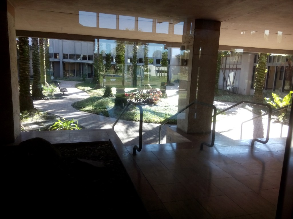 Poynter's beautiful courtyard provides inspirational views.