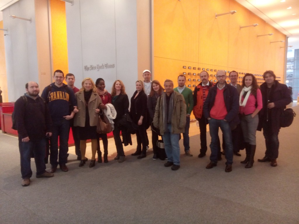 imim's current cohort visiting the New York Times.