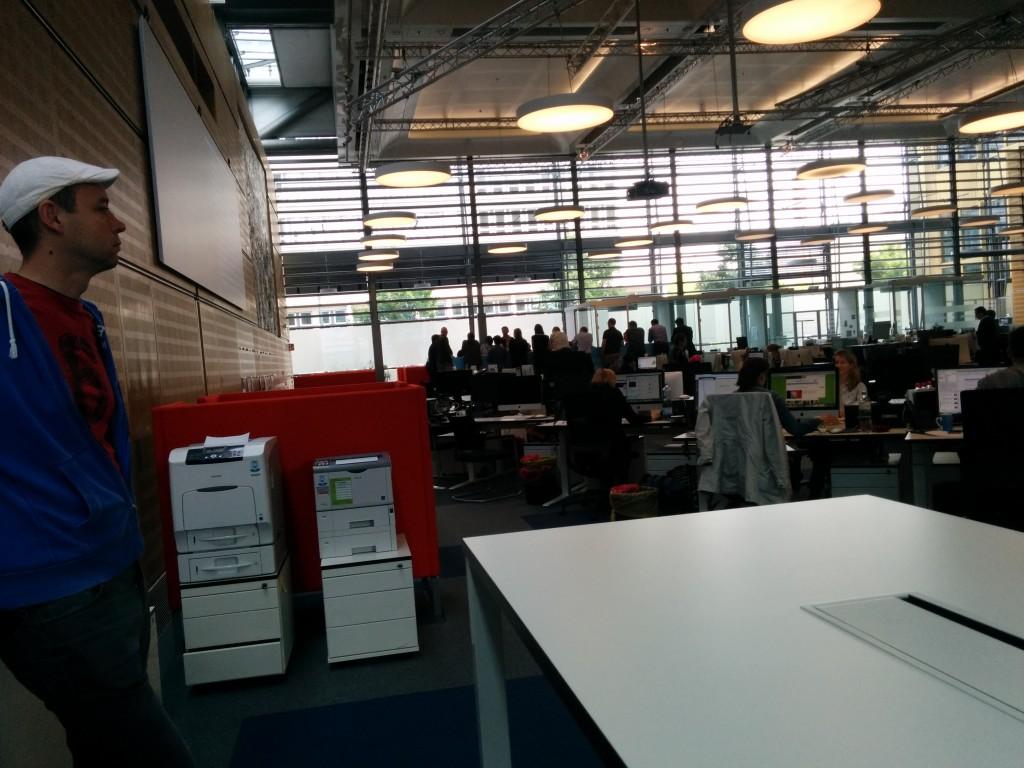 """At """"Die Welt"""" newsroom."""