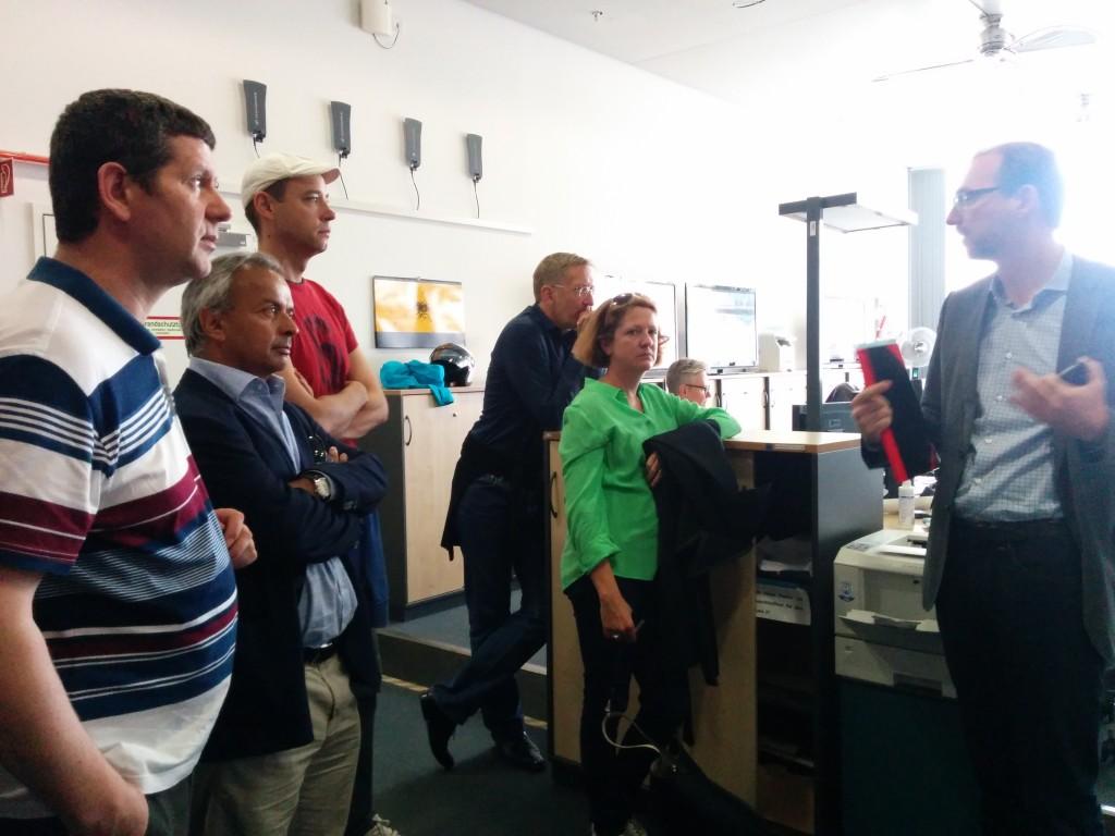 At N24 newsroom.